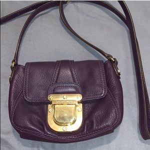 Purple MK shoulder bag